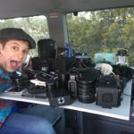 Camera gear for a campervan trip
