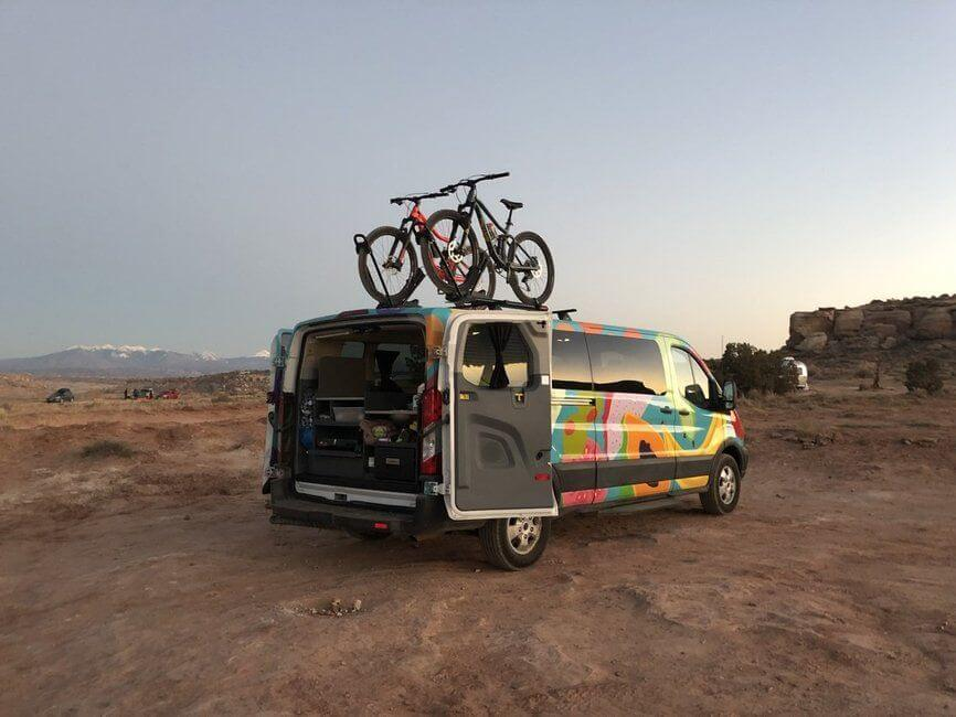 Escape Campervan in Moab Utah
