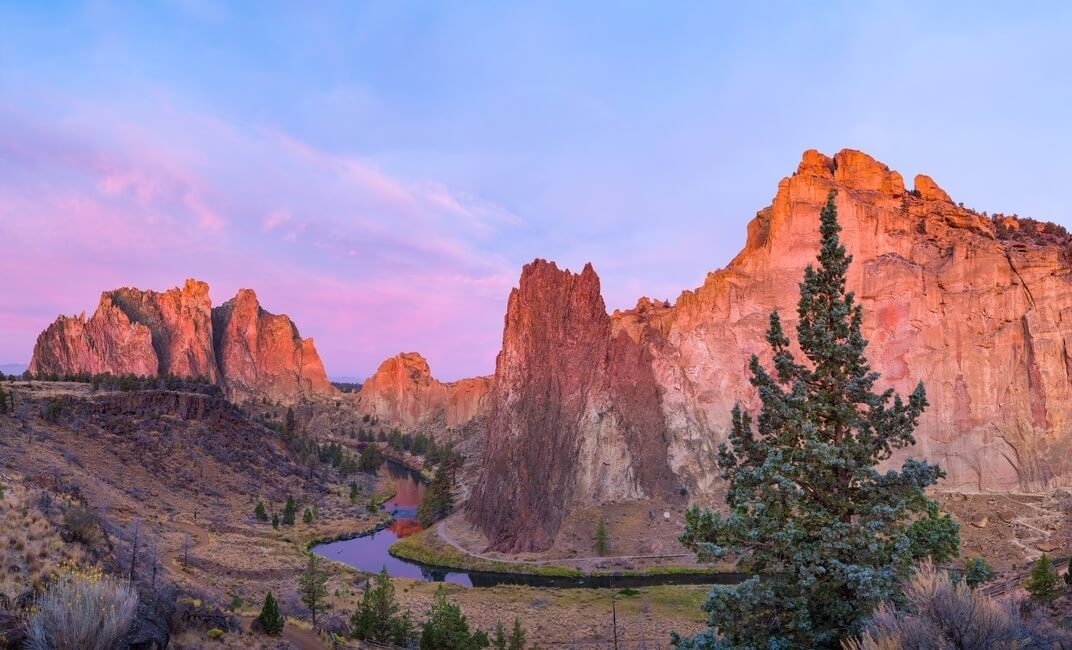 Sunrise at Smith Rock State Park in Oregon USA