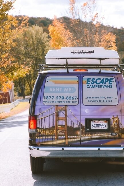 Upstate New York Fall Road Trip Campervan