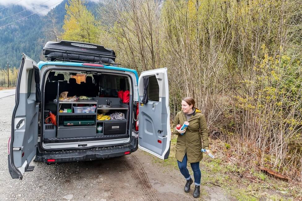 Wells Gray Provincial Park with campervan